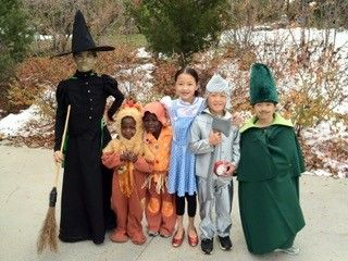 The Harris Law Firm celebrating Halloween with their family